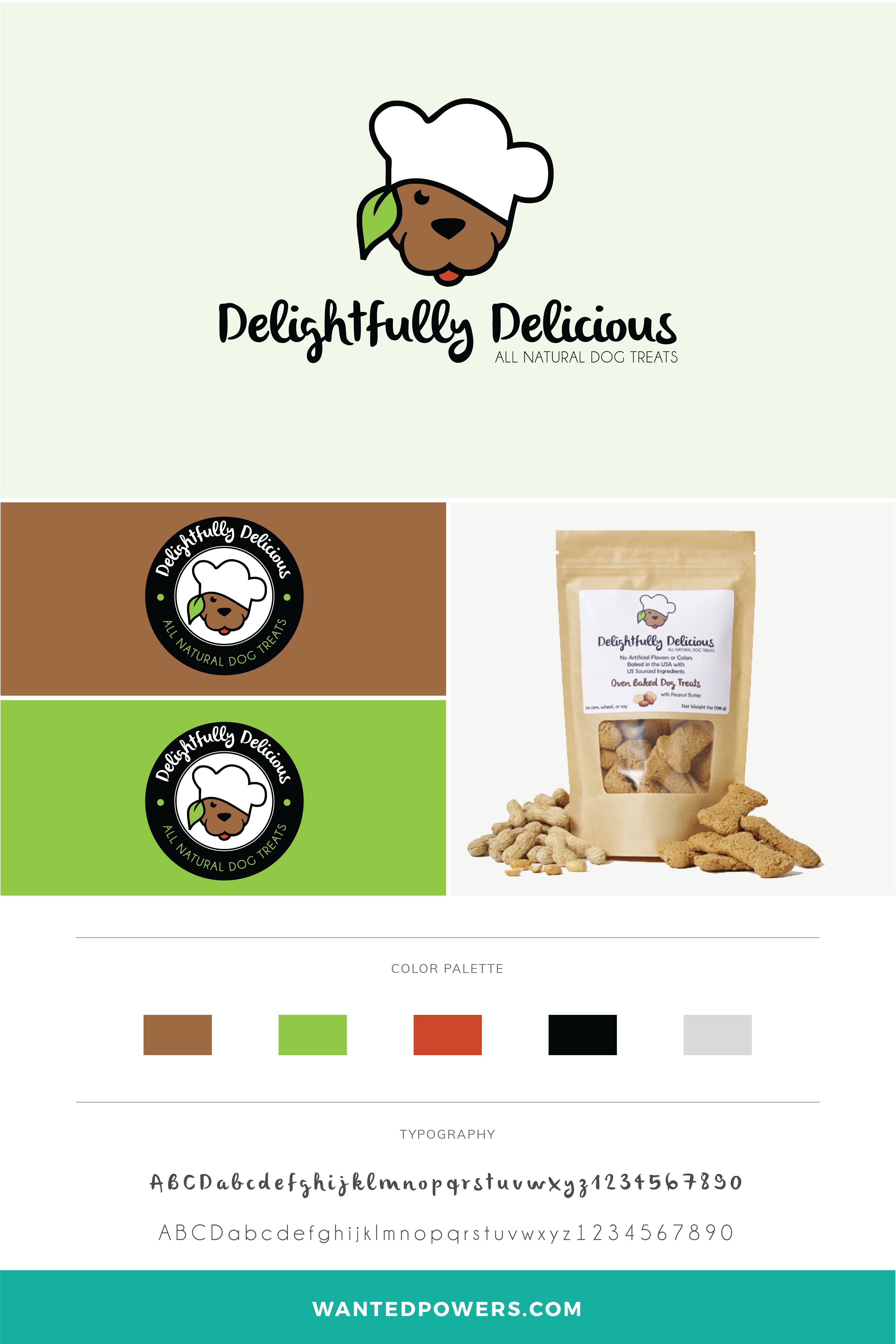 Dog Treats Logo Branding Chef Logo Pet Logo Graphic Design