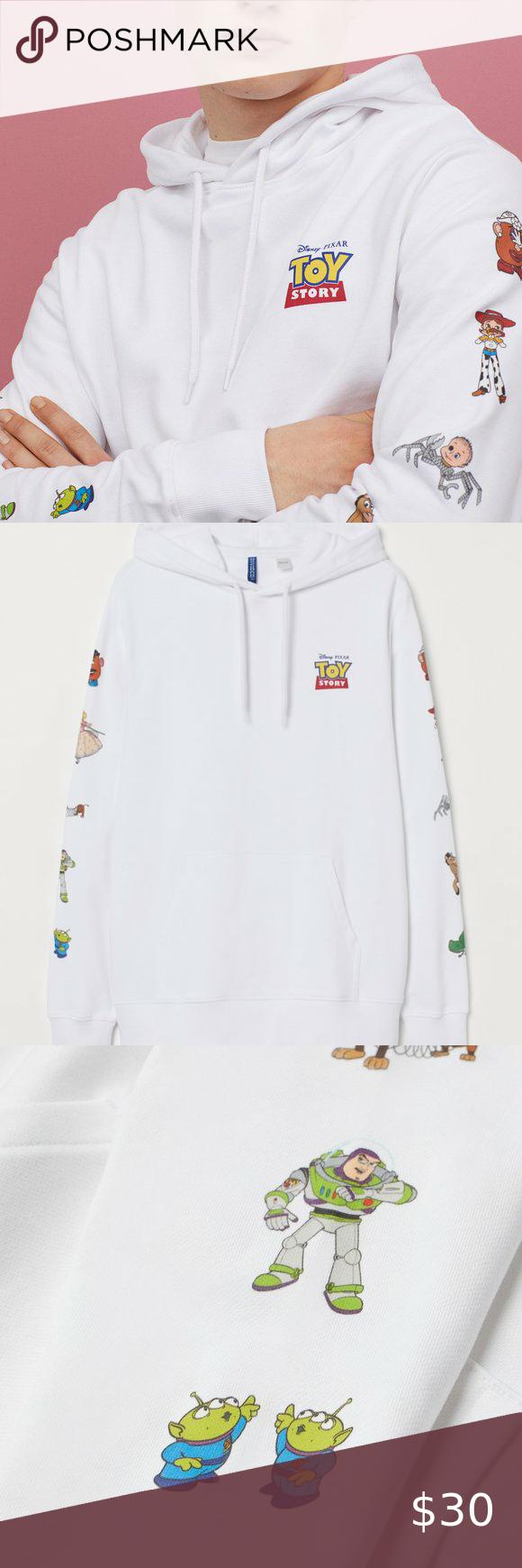 H M White Toy Story Hoodie Hoodie Brands Soft Sweatshirts Hoodies [ 1740 x 580 Pixel ]