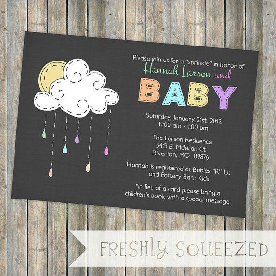 Baby Sprinkle Invitation Sprinkle Shower Gender Neutral
