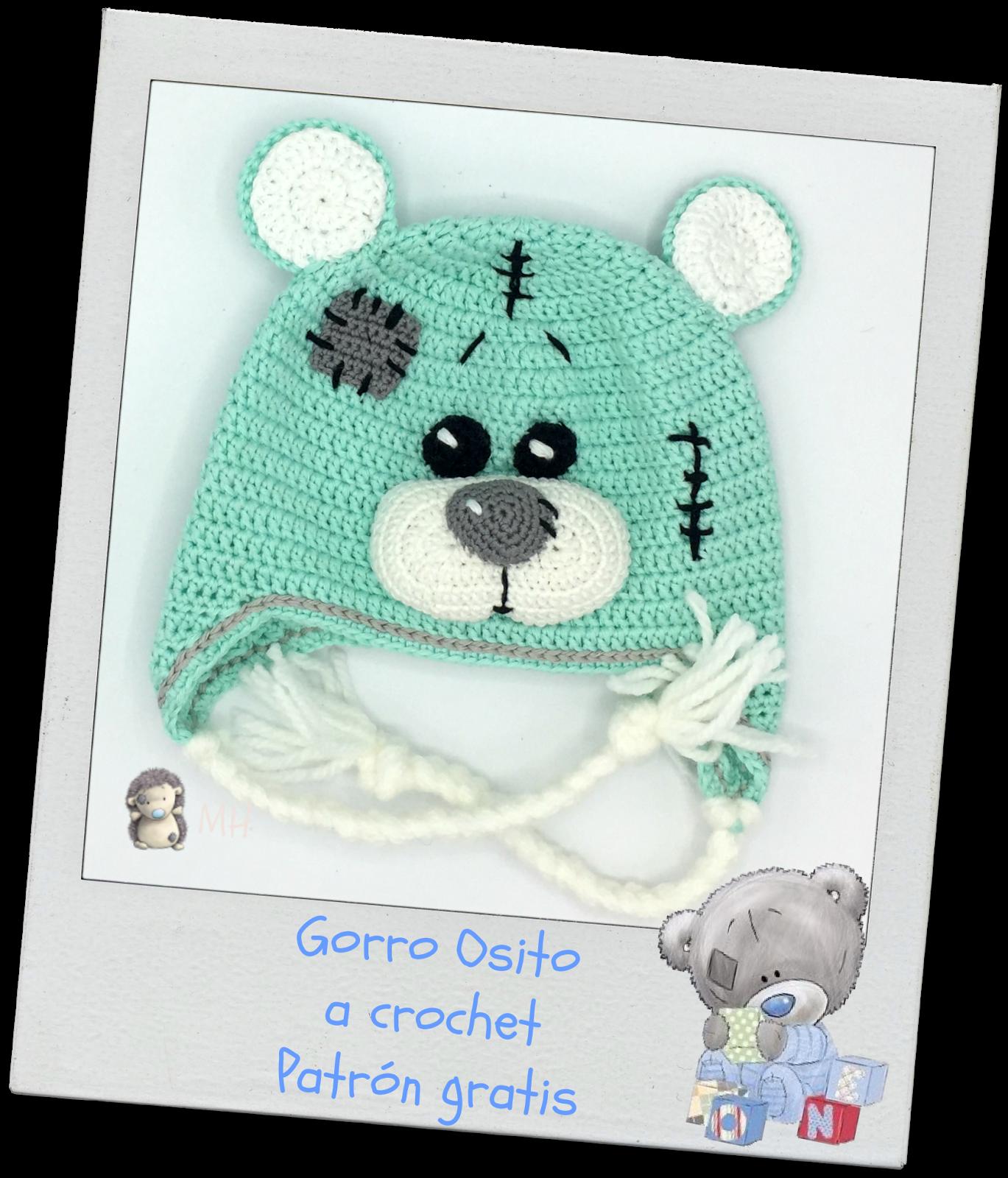 Gorro osito de peluche a crochet | hats | Pinterest | Osos, Gorros y ...