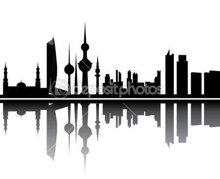 Kuwait Skyline Kuwait National Day Skyline Kuwait