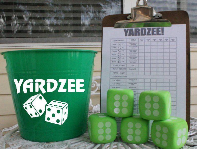 Outdoor Yardzee Lawn Dice Family Game Yard Game Yard Dice