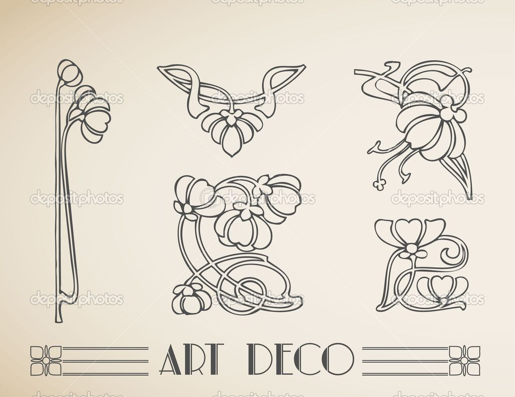 Vector Art deco retro frame with peacock. — Ilustração de Stock #21305547