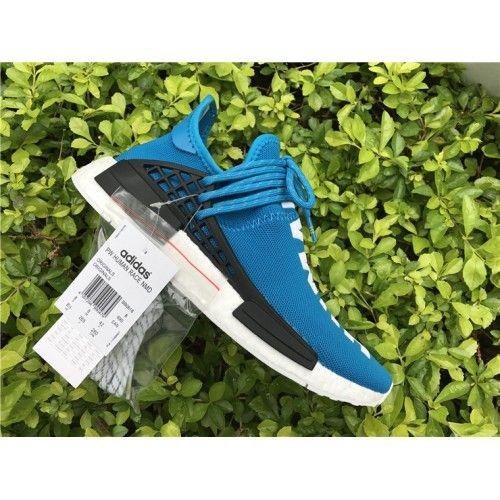 c4d6439cd518 2017 Pharrell Williams x adidas HU NMD Human Being Shale Blau-Shoes Weiß  Kaufen