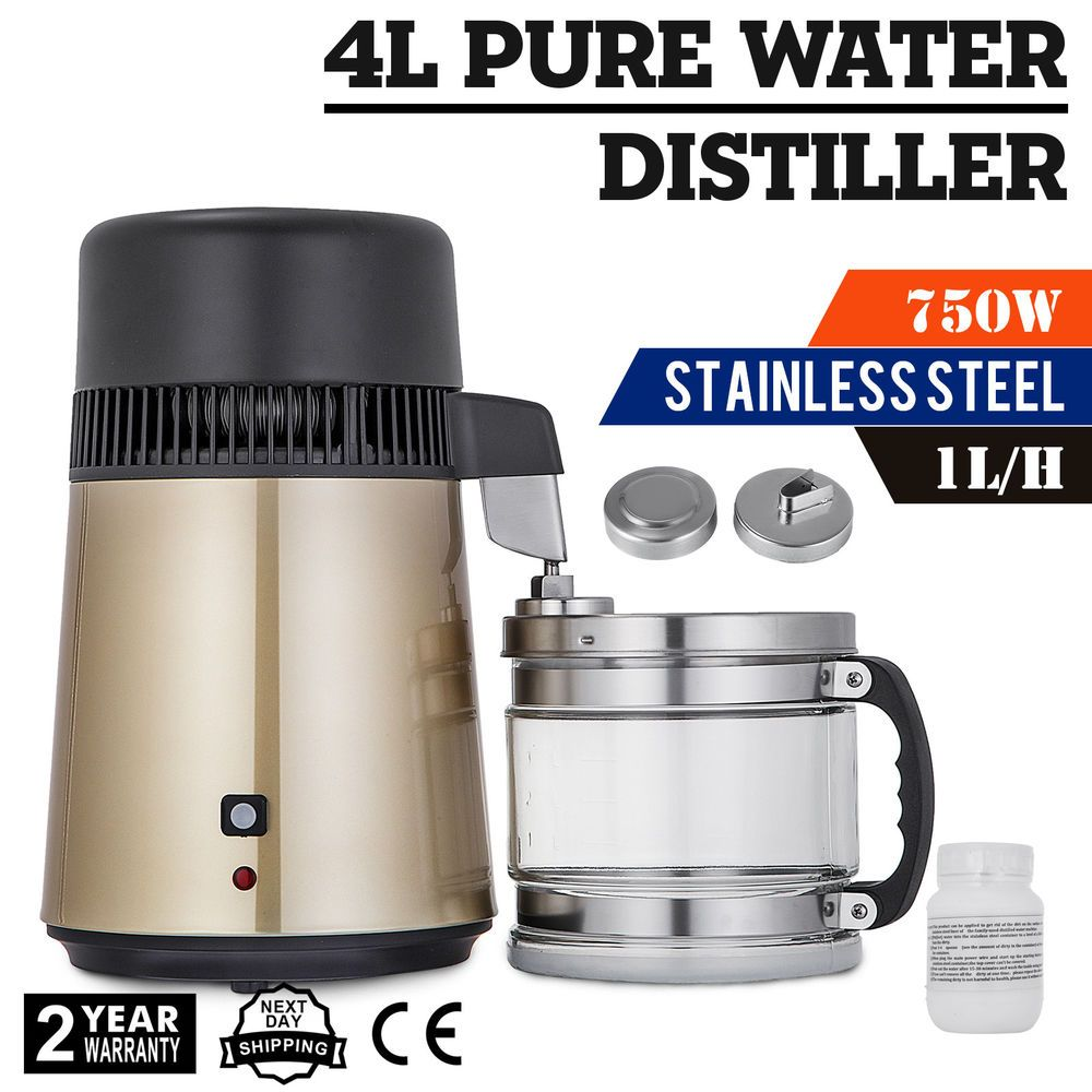 4l Water Distiller Water Purifier 1 L H Home Medical W Water Bottle Hospital Water Purifier Distilled Water Purifier