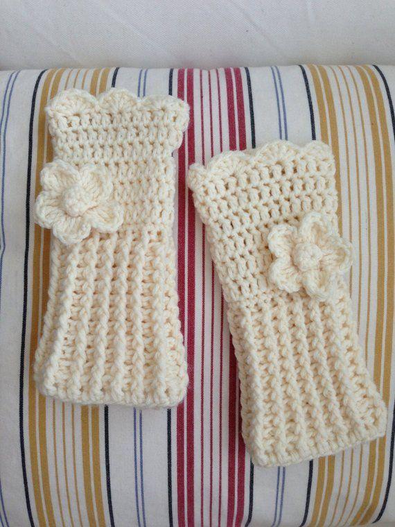 Crochet wrist warmer fingerless gloves, customized long fingerless ...