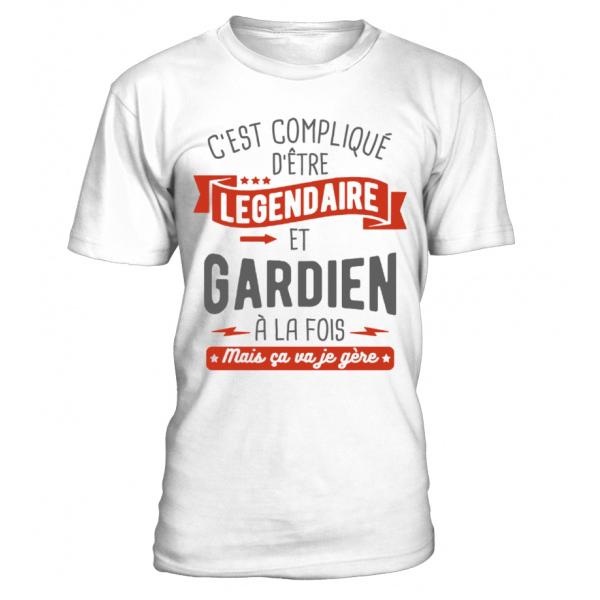 C Est Complique D Etre Legendaire Et Gardien A La Fois Mais Ca Va Je Gere Drole Citation Humour T Shirt Nageur C Est Complique