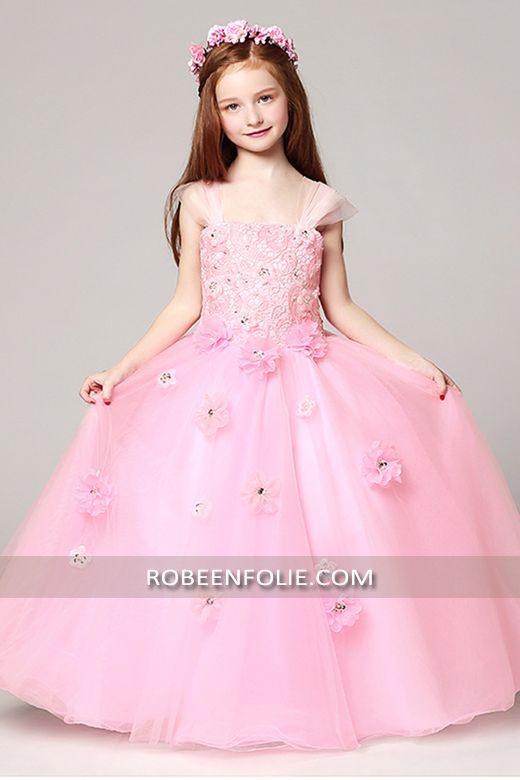 8e8cc6c9ee161 Robe de soirée longue très chic pour enfant en style princier…   robe longue fille  robe longue enfant