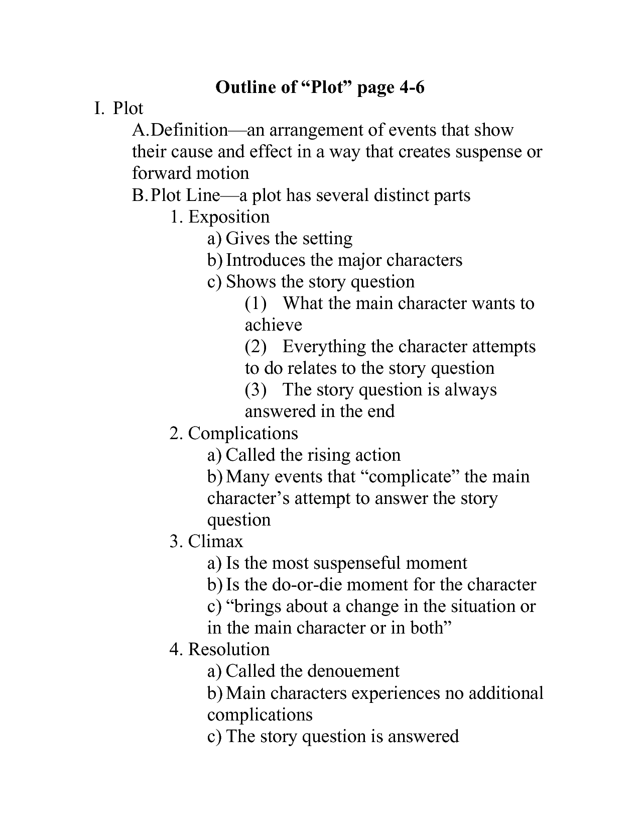 Novel Outline Template Viewing Gallery