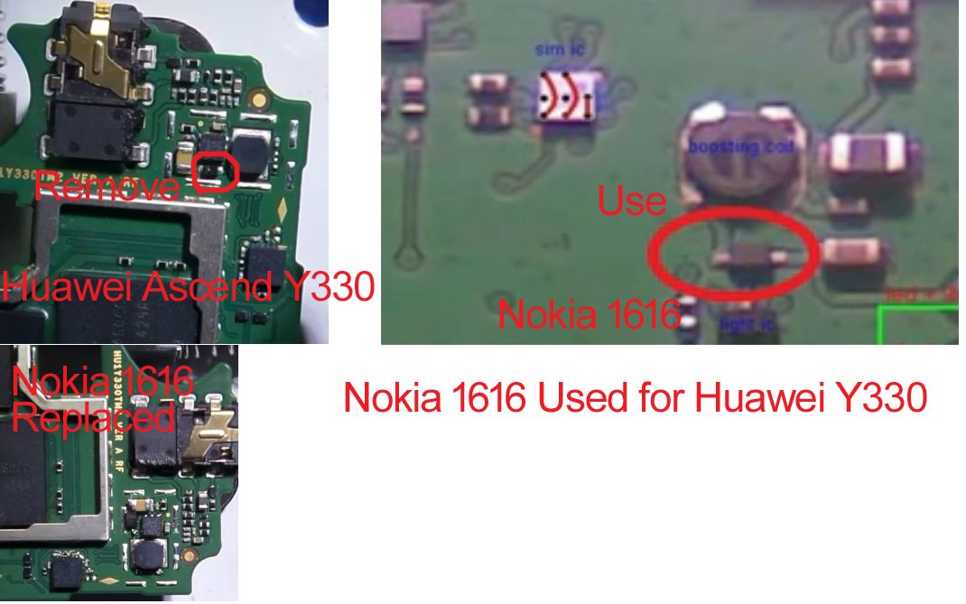 Huawei Ascend Y330 Display Light Solution Using Nokia 1616 Light