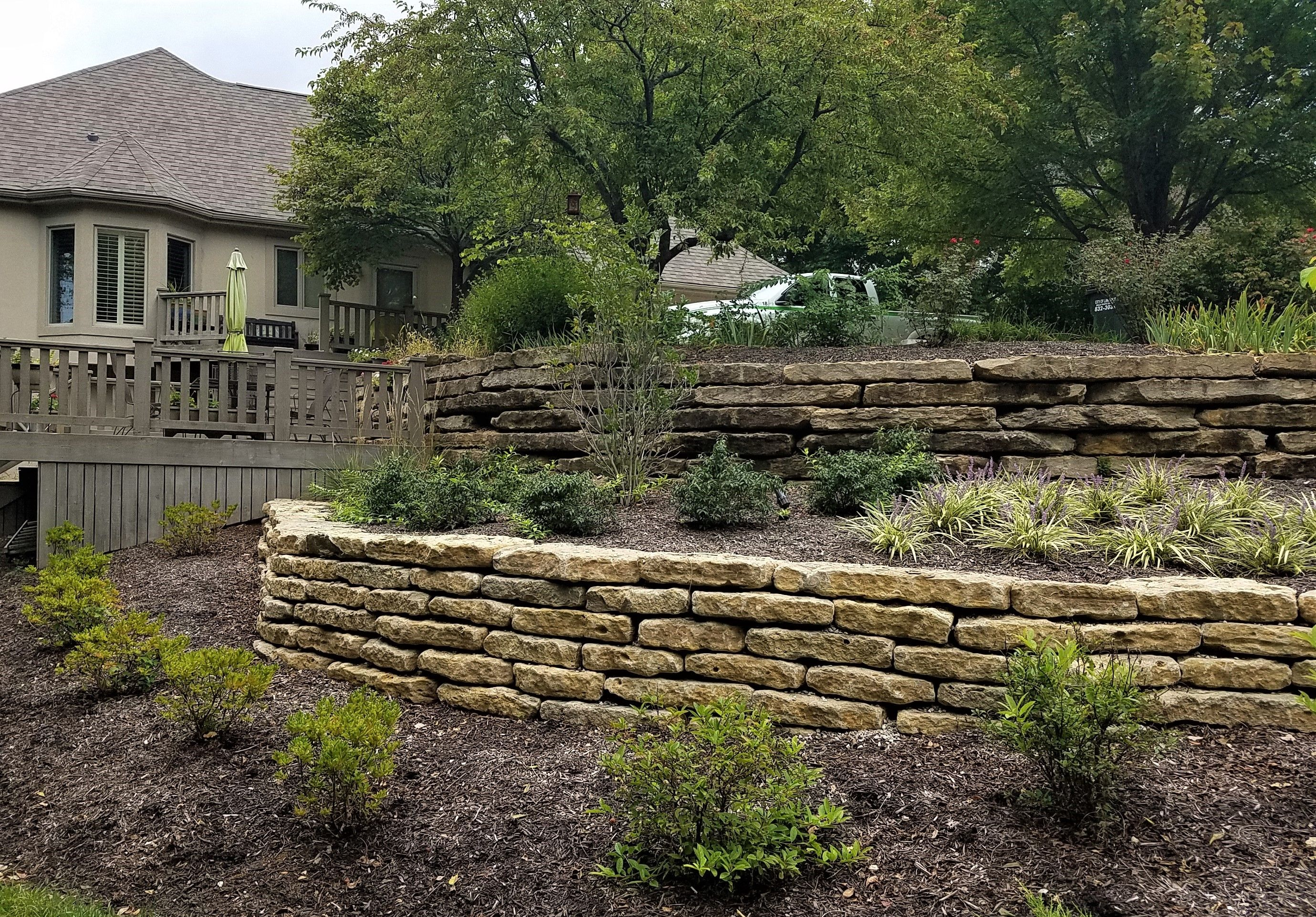 A Quick View Of Our Landscaping Work Natural Stone Retaining