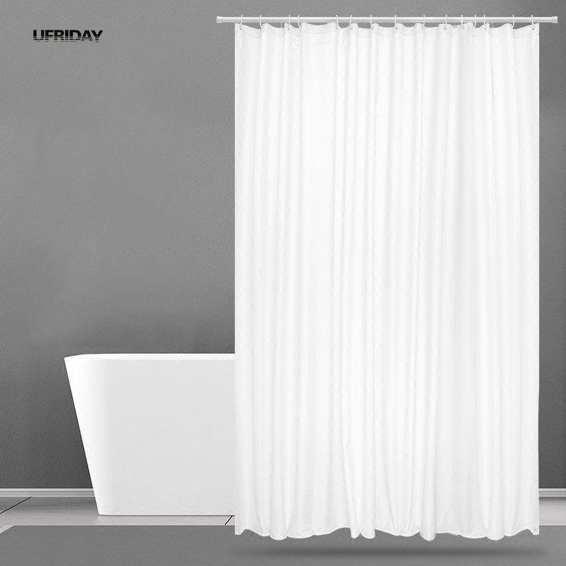ufriday new white shower curtain fabric