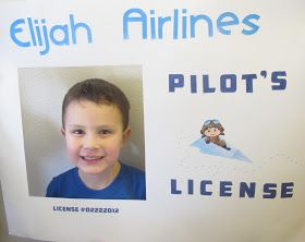 Joy {Love} Create: Paper Plane Party: DIY pilots license for a plane themed kids party. How cute!