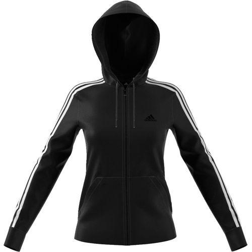 Adidas sports jacket hoodie red and black triple stripe