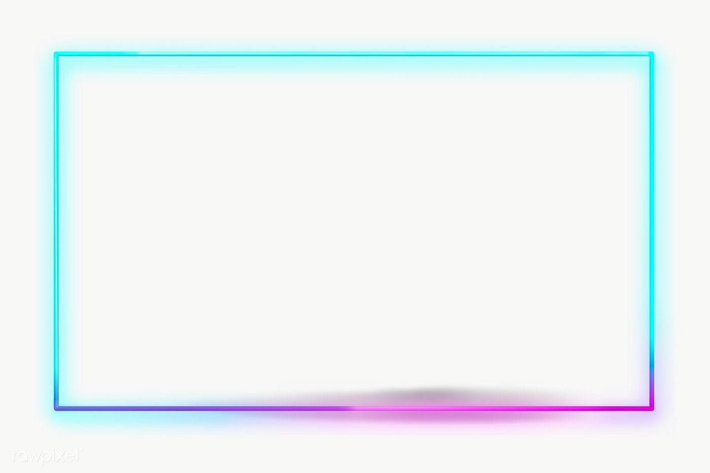 Blue Neon Frame Design Element Free Image By Rawpixel Com Busbus Frame Design Design Element Blue Picture Frames