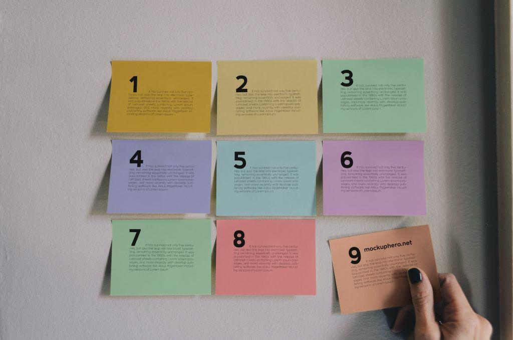 Free sticky notes mockup MockupHero Sticky notes