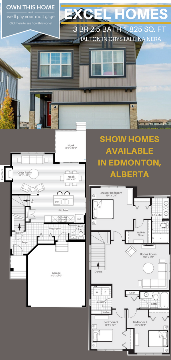 Floor Plans 2 Story Home Halton By Excel Homes In Edmonton Ab Home Exterior Love Home Exterior Ideas Homedeco Floor Plans Show Home Floor Plans 2 Story