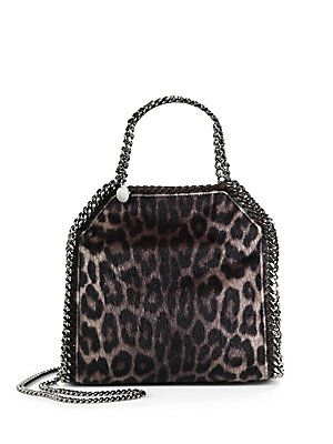 a1ac859c9e6f Stella McCartney Falabella Mini Baby Bella Leopard-Print Faux Fur Shoulder  Bag