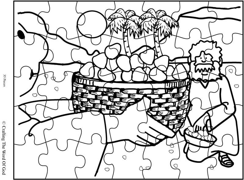 Mana From Heaven Puzzle Activity Sheet Historia De Moises