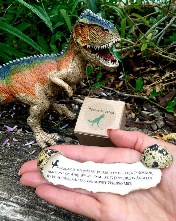 Dinosaur Egg Birthday Invitations Dig By RAWRdesignsByC