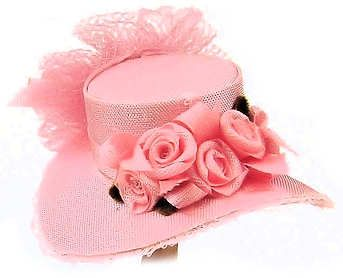 Dollhouse Miniature Ladies Hat in Pink