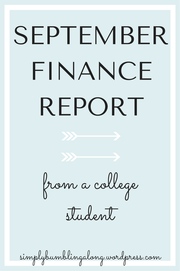 september finance report college students and college survival guide