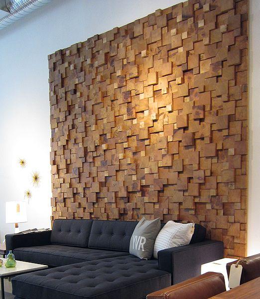cedar feature wall. STYLEGARAGE | Modern Furniture | Toronto |
