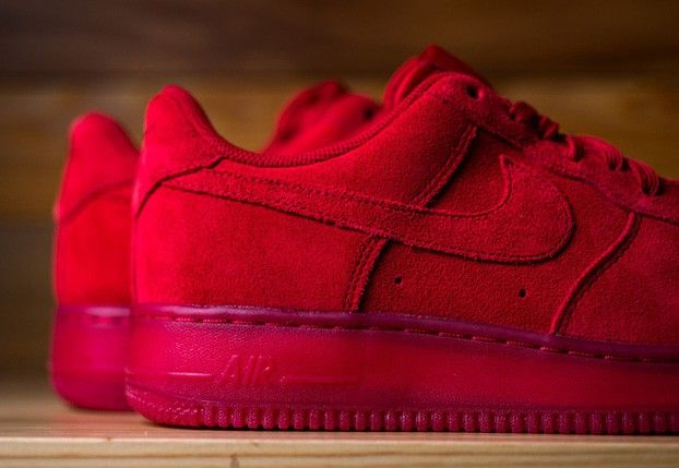 Nike Air Force 1 RED SUEDE is Solid - Nikeblog.com
