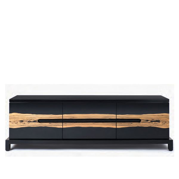 Modern Sideboard Black Sideboard With Amazing Wood Details