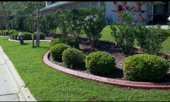 Turner Meadows Entrance Pensacola Florida Landscape Concrete Curbing Landscape Pensacola
