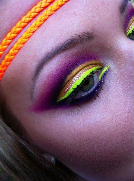 makeup #bright #eyes #neon Style Pinterest Maquillaje, Neón y Ojos