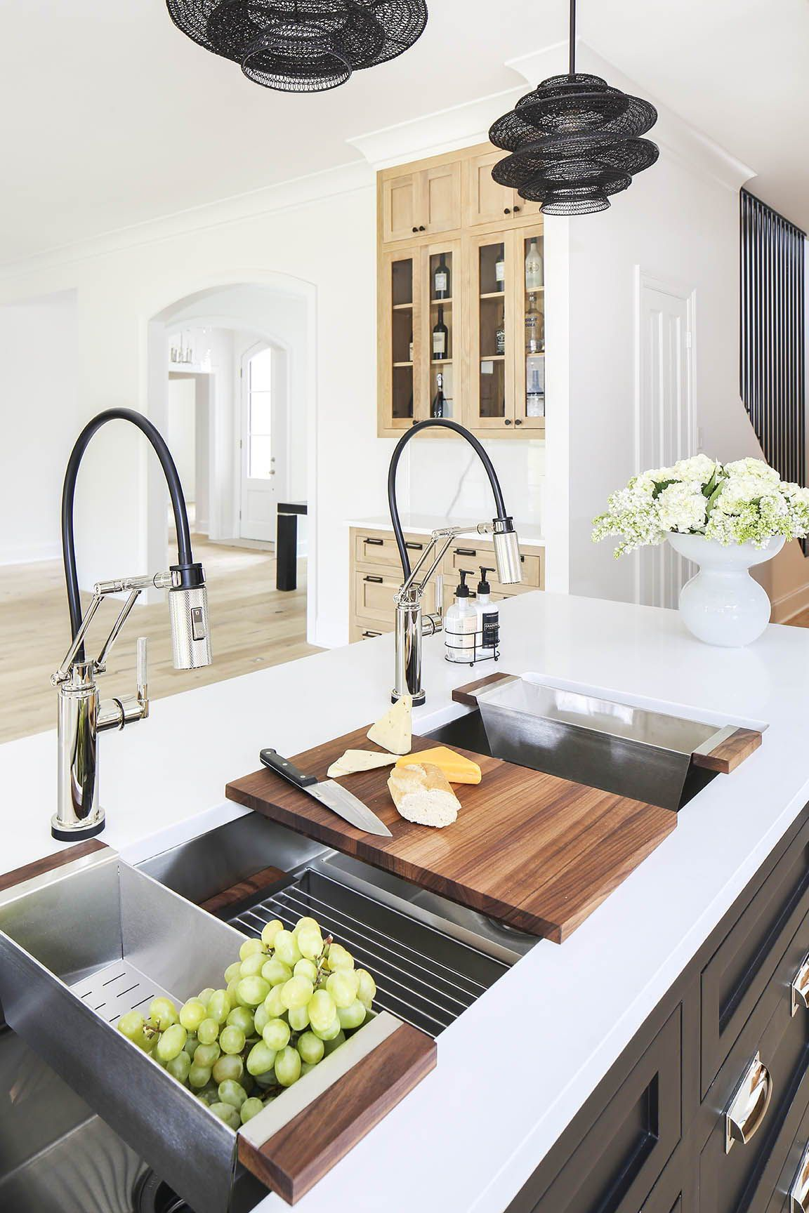 Two Toned Gourmet Kitchen Designed By Arianne Bellizaire Interiors Featuring Julien Smarts Gourmet Kitchen Design Kitchen Interior Kitchen Remodeling Projects
