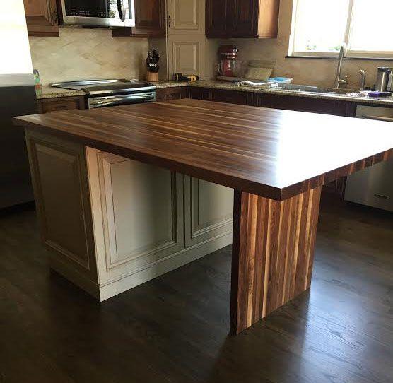 Discount Butcher Block Countertops: Rustic Walnut Kitchen Island Countertop By Armani Fine