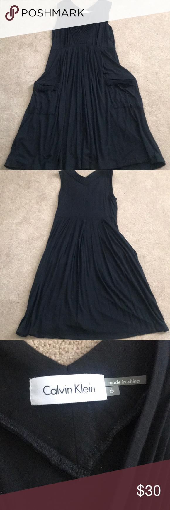 Calvin Klein Summer Dress Black Dress With Pockets Calvin Klein Summer Clothes Design [ 1740 x 580 Pixel ]