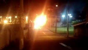 Galdino Saquarema Noticia: Garagem de ônibus no interior de SP pega fogo