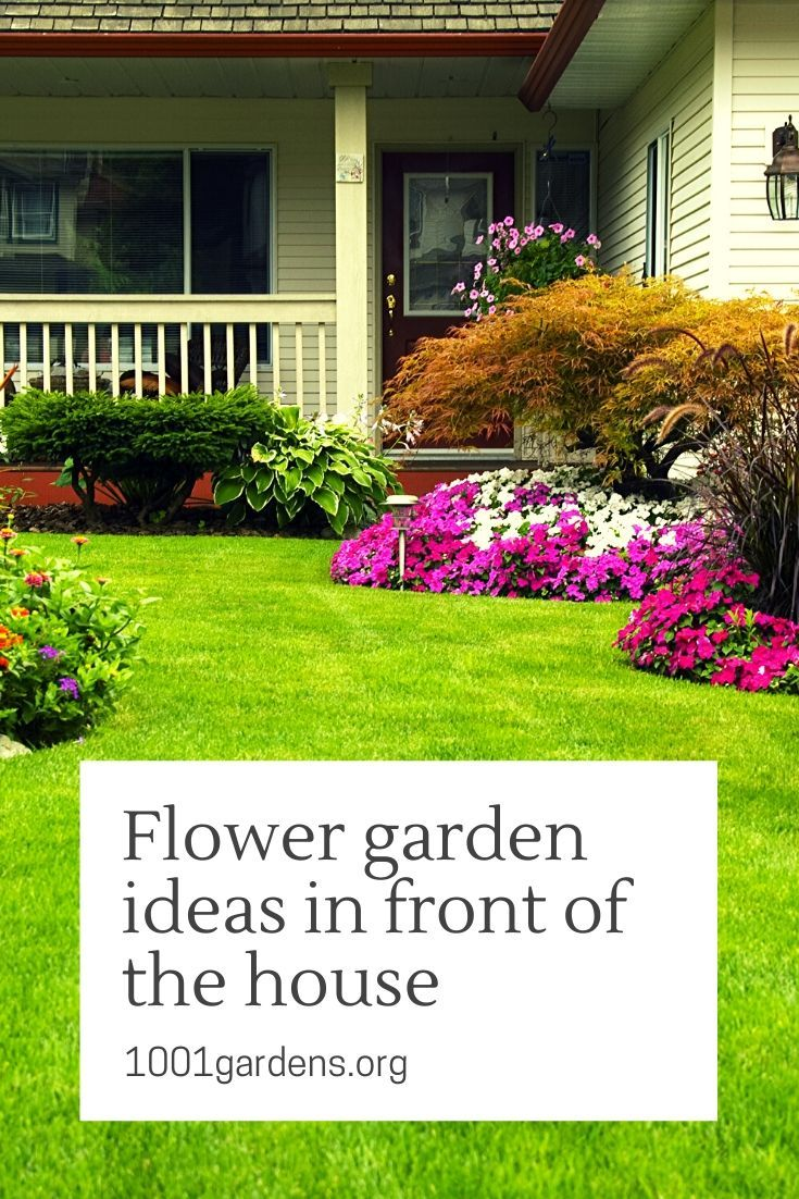 Flower garden ideas in front of the house in 2020 (With