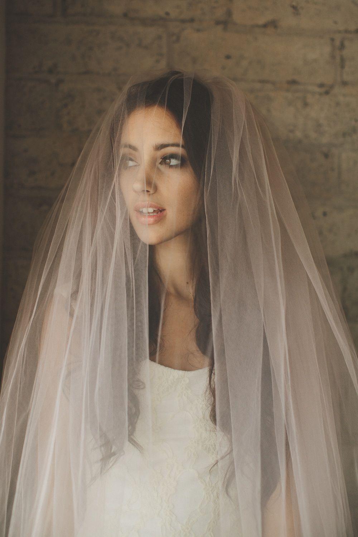 Blush wedding veil Blush veil, Bridal veil, Pink bridal