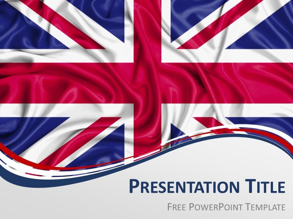 UK Flag PowerPoint and Google Slides Template