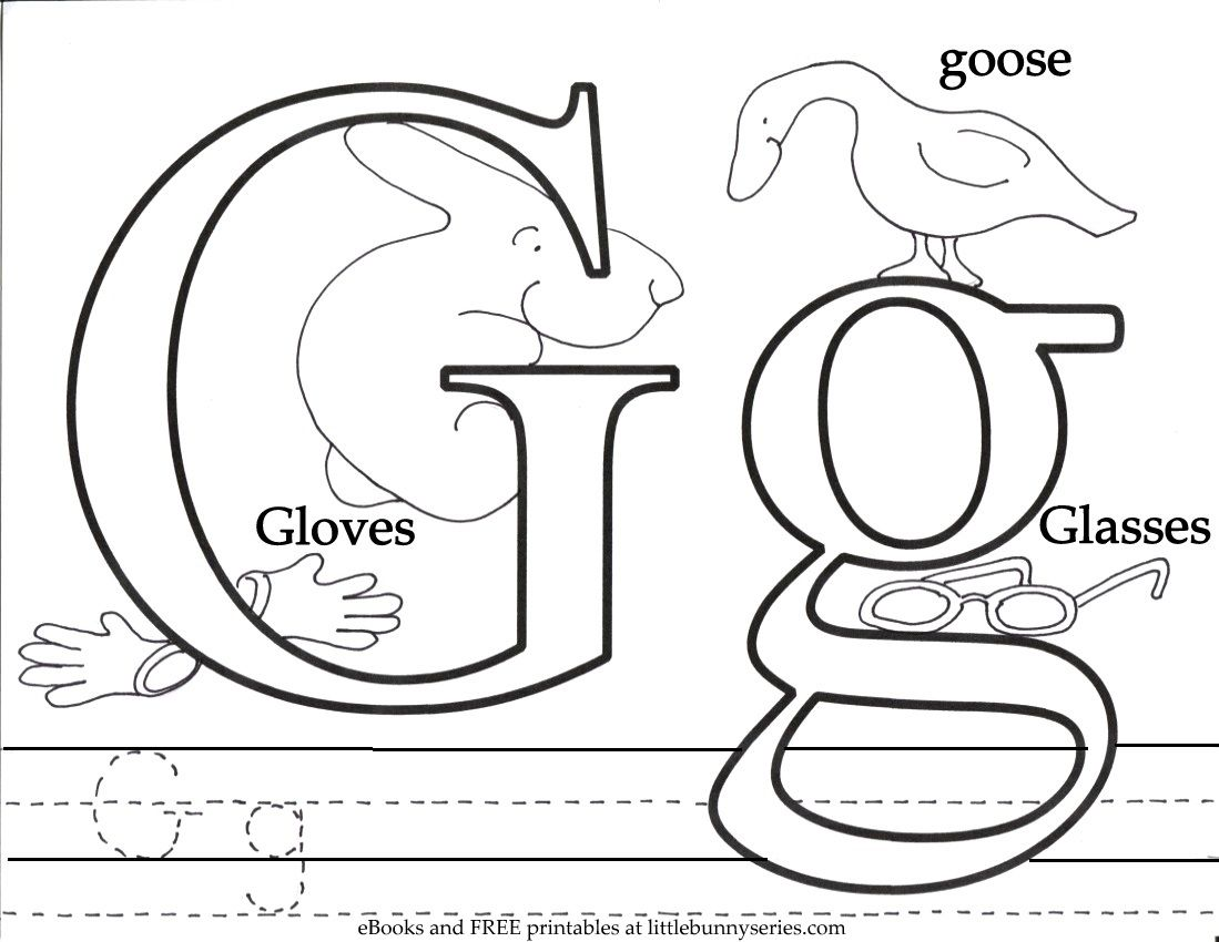 Letter G Coloring Page Pdf Coloring Pages Letter A Coloring Pages Abc Coloring