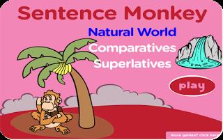English Corner Time: Sentence Monkey Comparatives and Superlatives http://englishcornertime.blogspot.com
