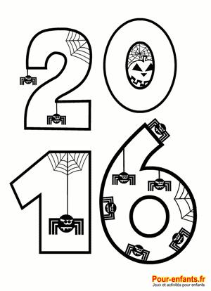 Coloriage Halloween 2016 à imprimer. Pour illustrer la date d ...