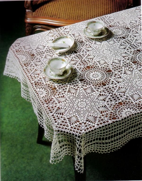ergahandmade: Crochet Tablecloth + Diagrams