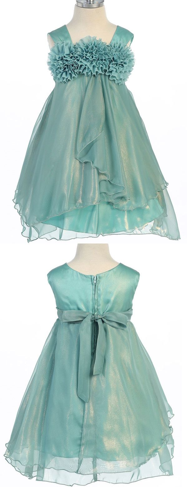 Sweet Green Flower Girls Dresses, Flower Girls Dresses Rustic, Cute ...