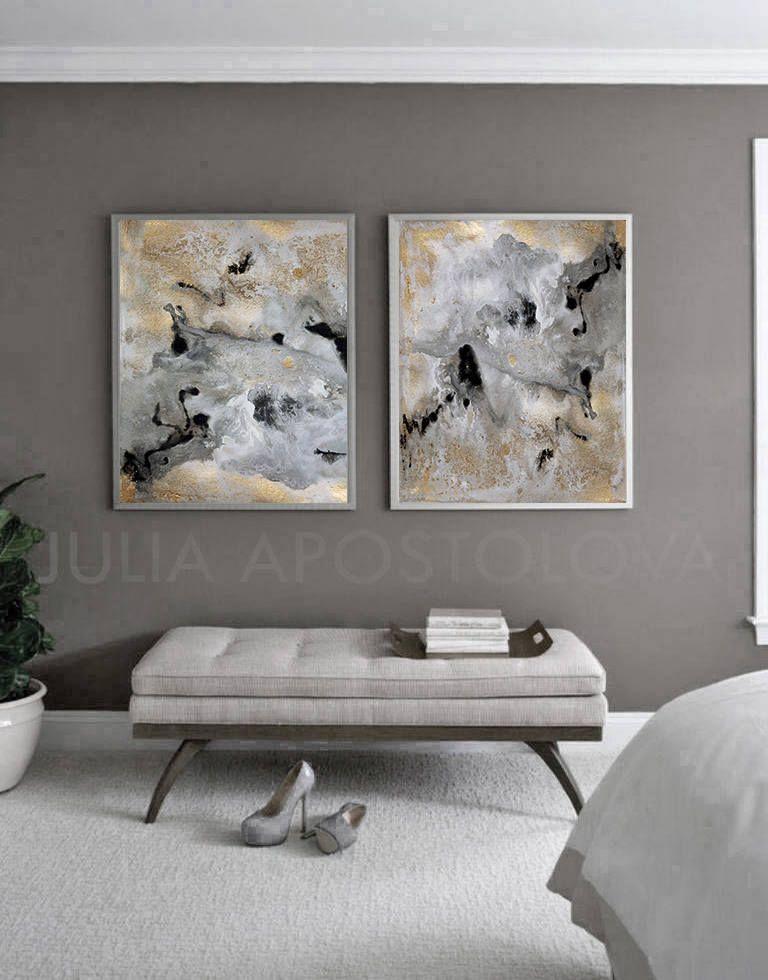 72inch Extra Large Wallart Art Modernart Modernabstract Interiordesignideas Black Gold Gray Contempo Grosse Wandkunst Abstrakte Leinwand Grosse Wande