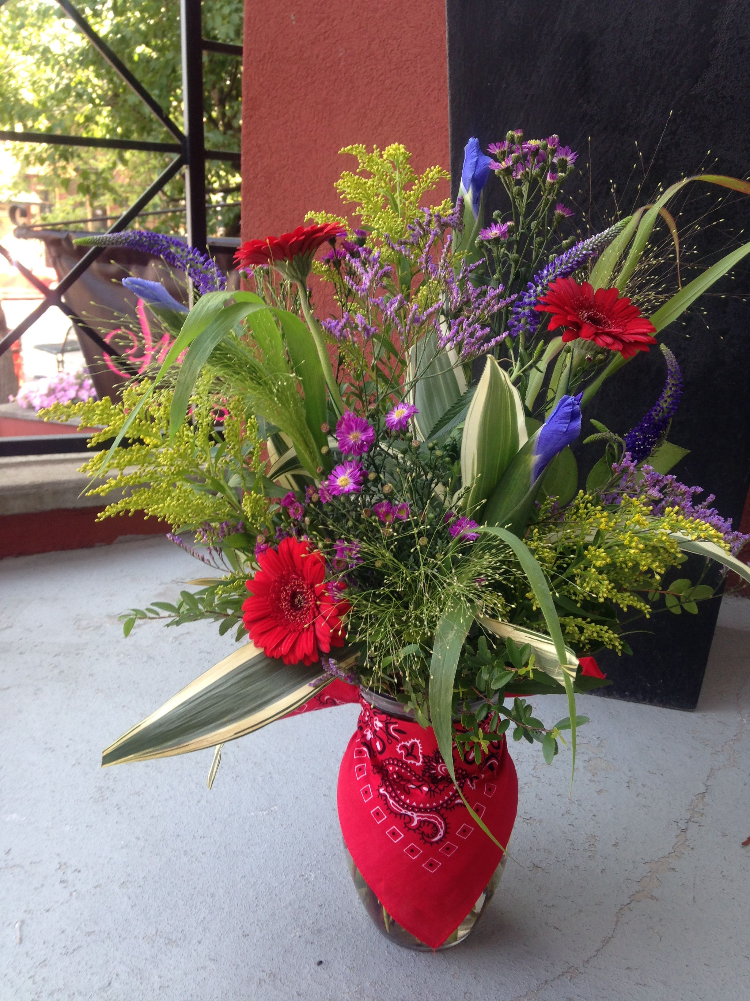 Stampede Wildflower Arrangement We Are Located In Calgary After All Summer Floral Plants Wild Flowers