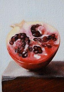 """""""Pomegranate"""" - Original Fine Art for Sale - © Jonathan Aller"""