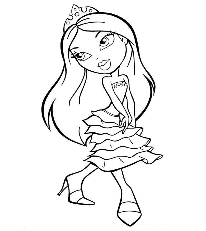 Free Printable Bratz Coloring Pages For Kids Disney Princess