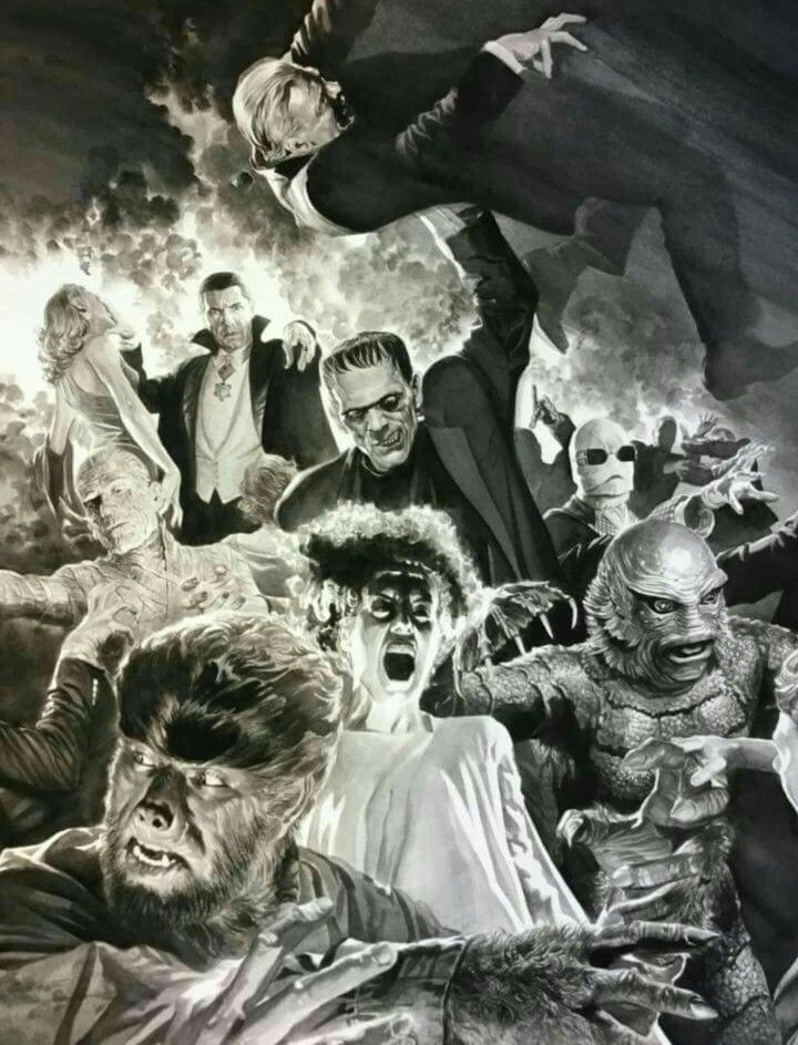 Famous Movie Monsters Universal Monsters Art Vintage Horror Classic Horror Movies