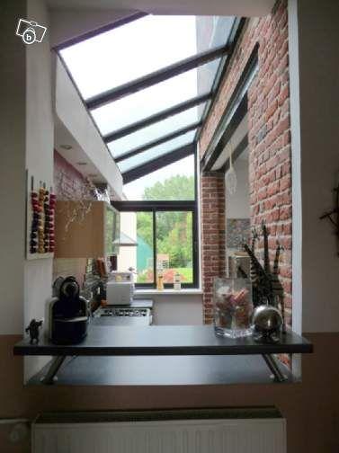 Extension - Garder le mur extérieur en intérieur Cuisine