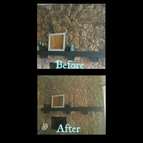 Updating 70s stone fireplace